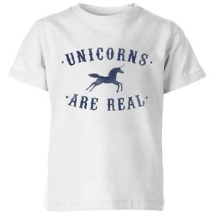Florent Bodart Unicorns Are Real Kids' T-Shirt - White