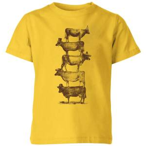 Florent Bodart Cow Cow Nuts Kids' T-Shirt - Yellow