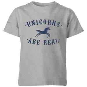 Florent Bodart Unicorns Are Real Kids' T-Shirt - Grey