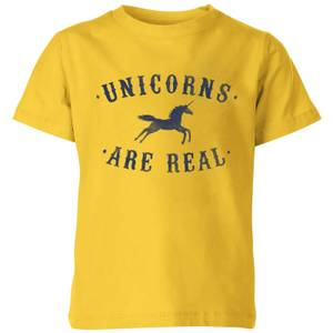 Florent Bodart Unicorns Are Real Kids' T-Shirt - Yellow