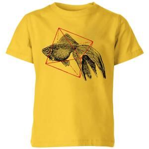 Florent Bodart Fish In Geometry Kids' T-Shirt - Yellow