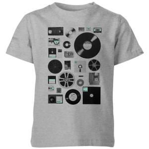 Florent Bodart Data Kids' T-Shirt - Grey