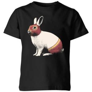 Florent Bodart Lapin Catcheur Kids' T-Shirt - Black
