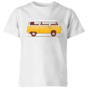 Florent Bodart Yellow Van Kids' T-Shirt - White
