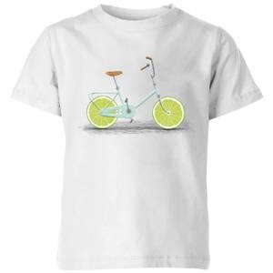 Florent Bodart Citrus Lime Kids' T-Shirt - White