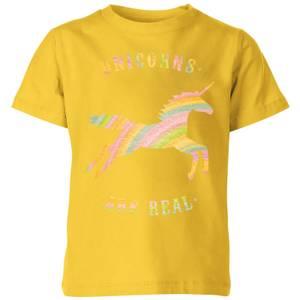 Florent Bodart Unicorns Are Real Kids' T-Shirt - Yellow