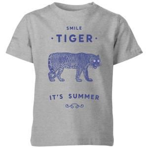 Florent Bodart Smile Tiger Kids' T-Shirt - Grey