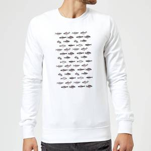 Florent Bodart Fish In Geometric Pattern Sweatshirt - White