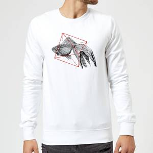 Florent Bodart Fish In Geometry Sweatshirt - White
