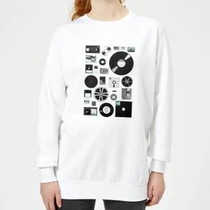 Florent Bodart Data Women's Sweatshirt - White