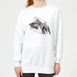 Florent Bodart Fish In Geometry Women's Sweatshirt - White