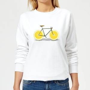 Florent Bodart Citrus Lemon Women's Sweatshirt - White