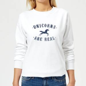 Florent Bodart Unicorns Are Real Women's Sweatshirt - White