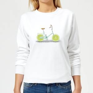 Florent Bodart Citrus Lime Women's Sweatshirt - White