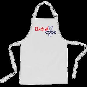 British Cook Logo Apron - White