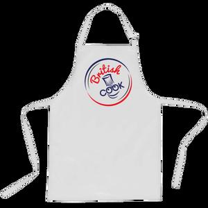 British Cook Circle Logo Apron - White