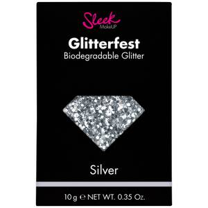 Sleek MakeUP Glitterfest Biodegradable Glitter - Silver 10 g