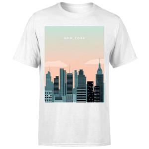 New York Men's T-Shirt - White