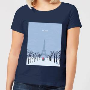 Paris Women's T-Shirt - Navy
