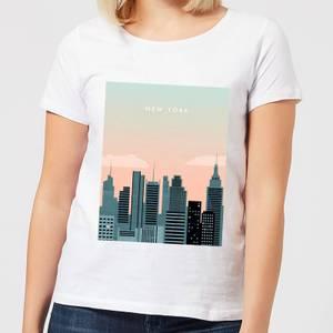 New York Women's T-Shirt - White