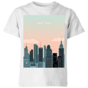 New York Kids' T-Shirt - White