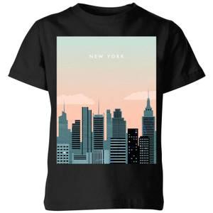 New York Kids' T-Shirt - Black