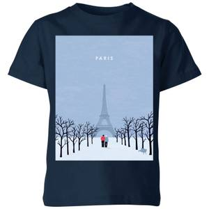 Paris Kids' T-Shirt - Navy