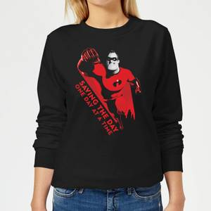 Incredibles 2 Saving The Day Women's Sweatshirt - Black