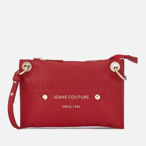 Versace Jeans Women's Logo Cross Body Bag - Red