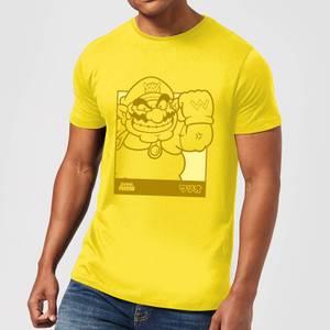 T-Shirt Nintendo Super Mario Wario Katakana Line Art - Giallo - Uomo