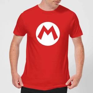 Nintendo Super Mario Mario Logo Men's T-Shirt - Red