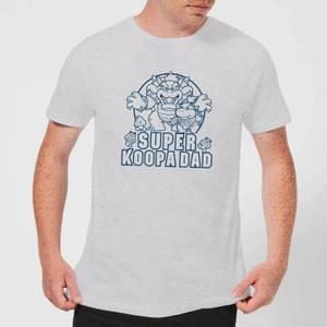 Nintendo Super Mario Super Koopa Dad Men's T-Shirt - Grey