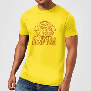 Nintendo Super Mario Super Koopa Dad Men's T-Shirt - Yellow