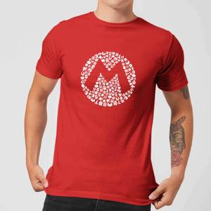 Nintendo Super Mario Mario Items Logo Men's T-Shirt - Red