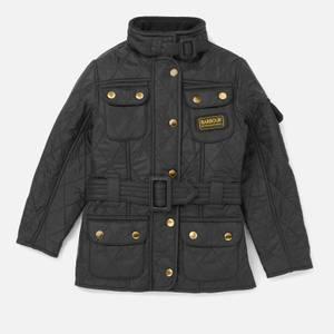 Barbour Girls' International Quilt Jacket - Black/Black