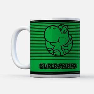 Nintendo Super Mario Yoshi Retro Line Art Colour Mok