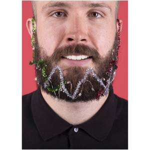 Christmas Beard Lights and Tinsel