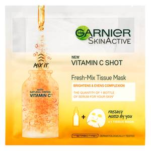 Garnier Fresh-Mix Brightening Face Sheet Shot Mask with Vitamin C 33g