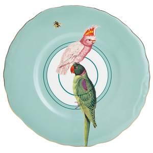 Yvonne Ellen Parrot Plate - Blue