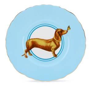 Yvonne Ellen Posh Puppy Plate - Blue