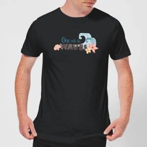 T-Shirt Homme One With The Vague s Vaiana, la Légende du bout du monde Disney - Noir