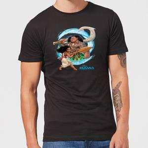 Disney Moana Wave Men's T-Shirt - Black