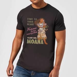 Disney Moana Natural Born Navigator Men's T-Shirt - Black