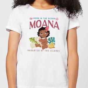 Moana Born In The Ocean Women's T-Shirt - White