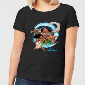 Moana Wave Women's T-Shirt - Black