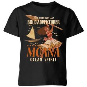 Moana Find Your Own Way Kinder T-shirt - Zwart