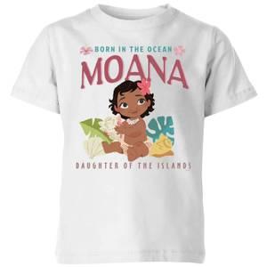 Moana Born In The Ocean Kids' T-Shirt - White