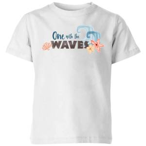 Moana One with The Waves Kids' T-Shirt - White
