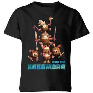 Moana Fear The Kakamora Kids' T-Shirt - Black