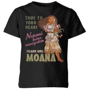 Moana Natural Born Navigator Kids' T-Shirt - Black